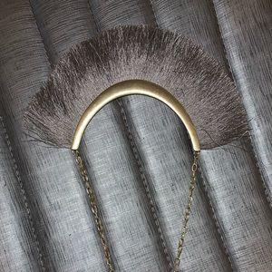 Silk fringe necklace